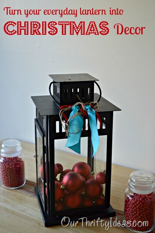 Table Lantern Christmas Decor