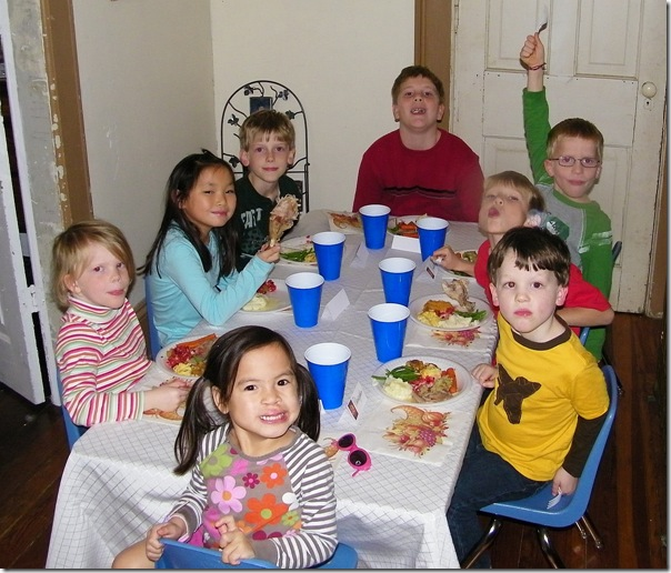thanksgiving table kids