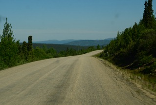 more gravel but smooth towards Dease Lake