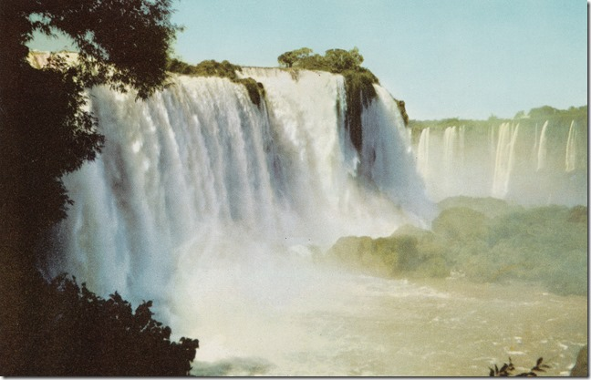 Varig Airlines Advertising Postcard - Iguacu Falls, Brazil