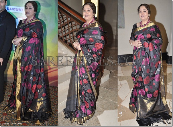 Kirron_Kher_Black_Saree