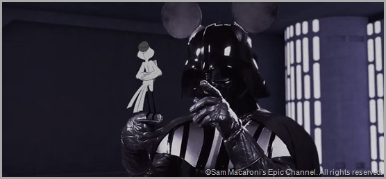 Darth Mickey takes charge in STAR WARS VII: RETURN OF THE EMPIRE.