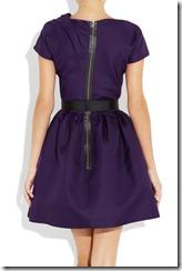 Victoria Beckham Belted Silk-gazaar Dress 3