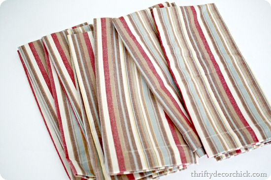 pottery barn stripe napkin
