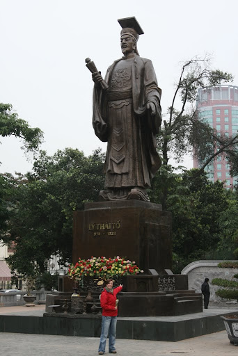 A statue of Ly Thai To, who ruled Vietnam from 1009 to 1028AD and founded the Ly Dynasty.