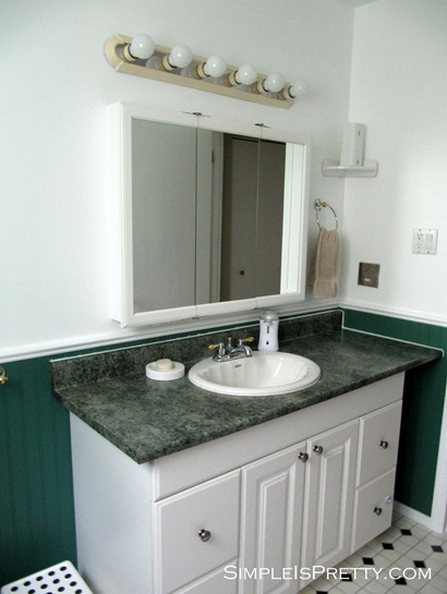 Bathroom Counter Before #2