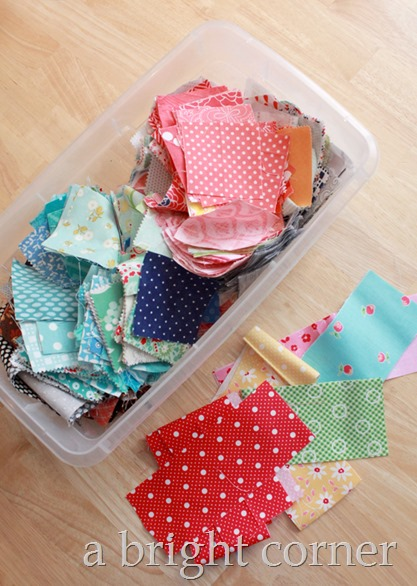 storing small fabric scraps by size