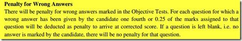 ibps clerk negative marks