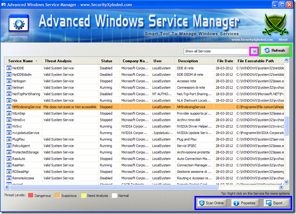 Advanced Win Service Manager