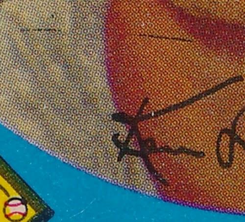 1959 Topps 31 Lehman autograph line variation