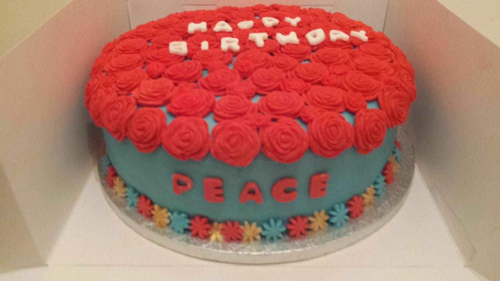 Pinspiration Rose Birthday Cake