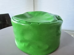 green Mr. Beads beanbag ottoman