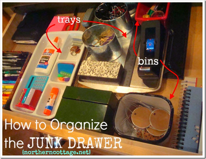 how to organize the kitchen drawer