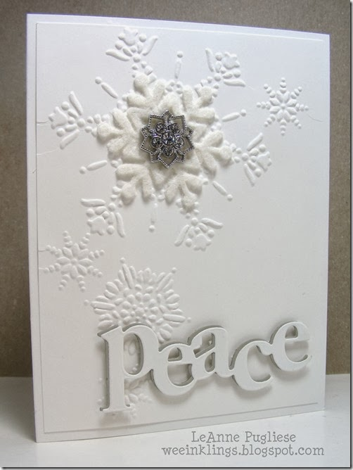 LeAnne Pugliese WeeInklings Merry Monday 85 White on White Christmas Card