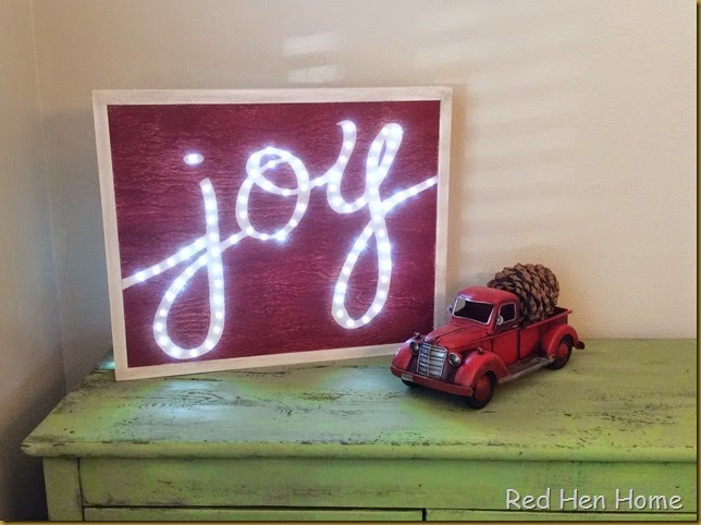Red Hen Home lighted joy