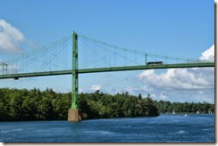 MH on the Thousand Islands Bridge
