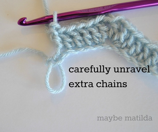 Getting rid of too many chains in foundation row of crochet