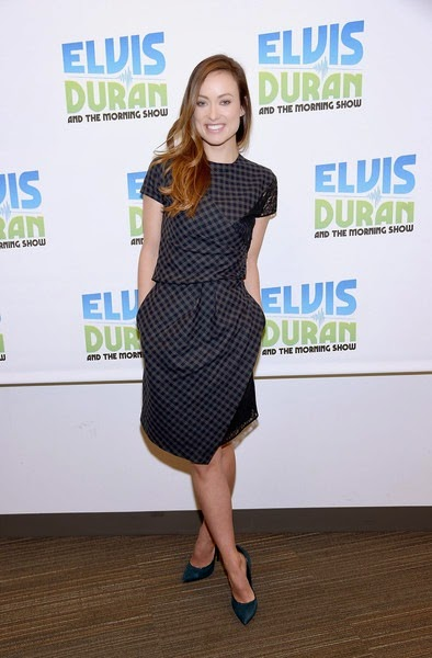 Olivia Wilde poses for a photo during The Elvis Duran Z100 Morning Show