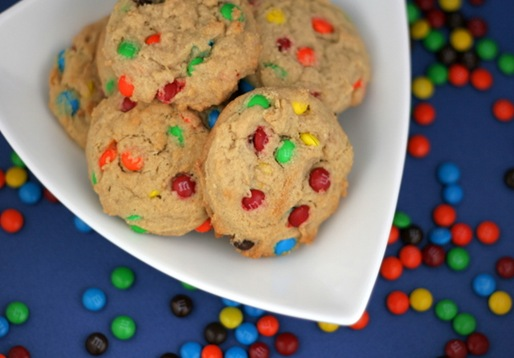 peanut butter m&m cookies2