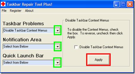 Taskbar Repair Tool Plus