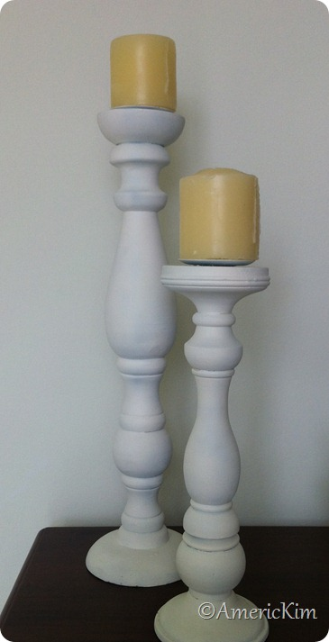 White Candle sticks