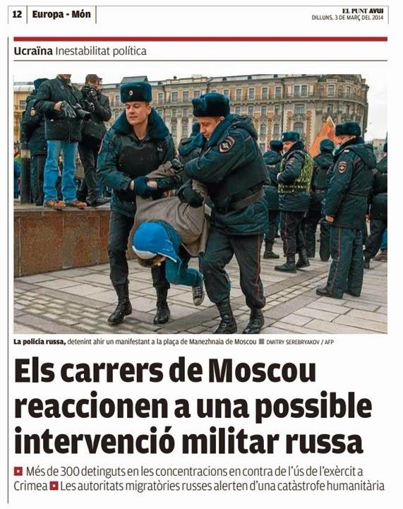 Crimea Manifestacion contra la guèrra a Moscòu