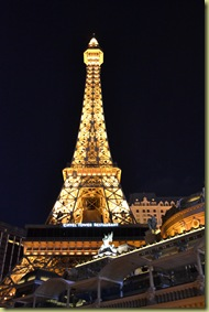 P Eiffel Tower at night