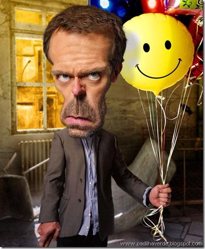 Caricatura Hugh Laurie