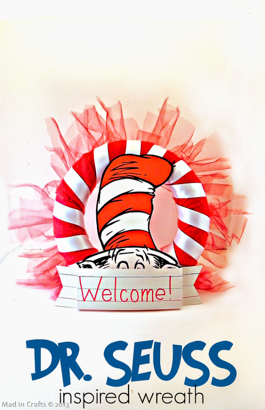 Dr Seuss Inspired Wreath