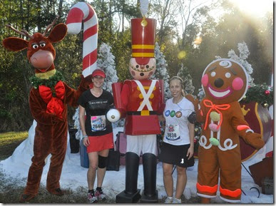 Christmas setting during the Walt Disney World Marathon
