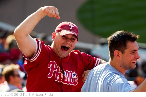 'Philadelphia Phillies fans' photo (c) 2012, Keith Allison - license: http://creativecommons.org/licenses/by-sa/2.0/