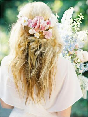 wedding hairstyles  haircuts for brides flowers in your hair