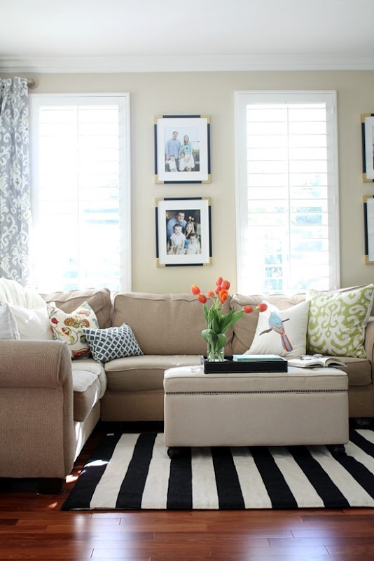 a new living room rug: stripes for the win - a thoughtful place