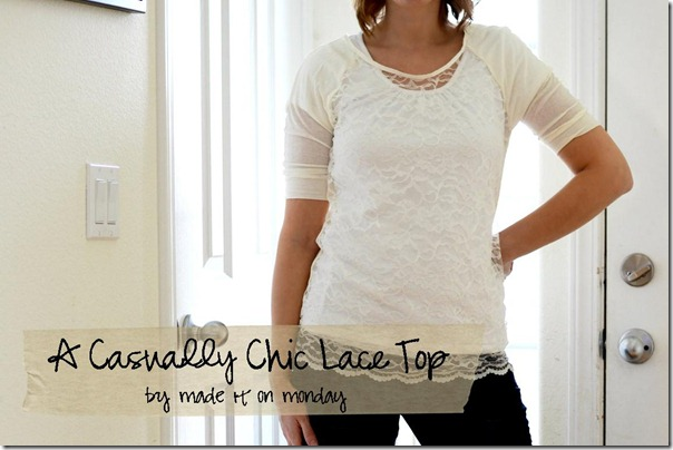A Casually Chic Lace Top by Made it on Monday