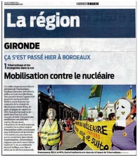 manifestacion antinucleara Bordèu Sud-Ouest 161011