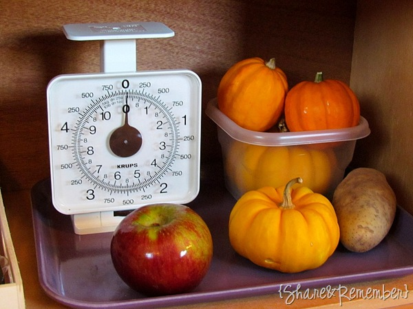 scale Weighing Fruits and Vegetables