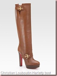 Christian Louboutin Harletty leather knee high boot