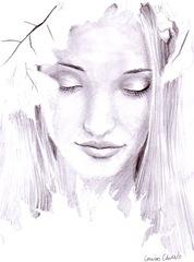 Portret de toamna in creion