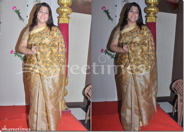 Kushboo_Gold_Silk_Saree
