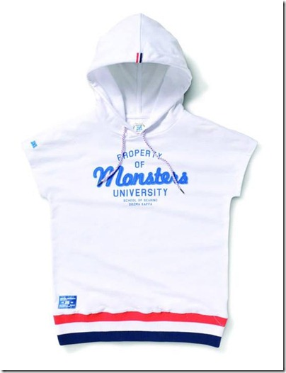 Monster University X Giordano - White hoodie