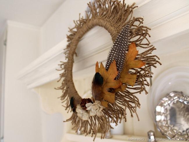Twine Sunburst Wreath | homework