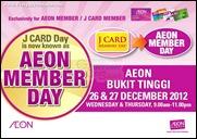 AEON Member Day Bukit Tinggi Branded Shopping Save Money EverydayOnSales