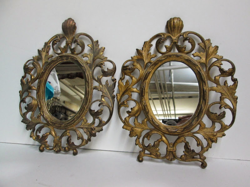 Ornate Mirror Pair