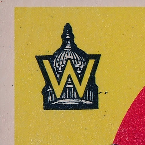 1959 Topps 397 Washington Senators Team and Checklist variation logo