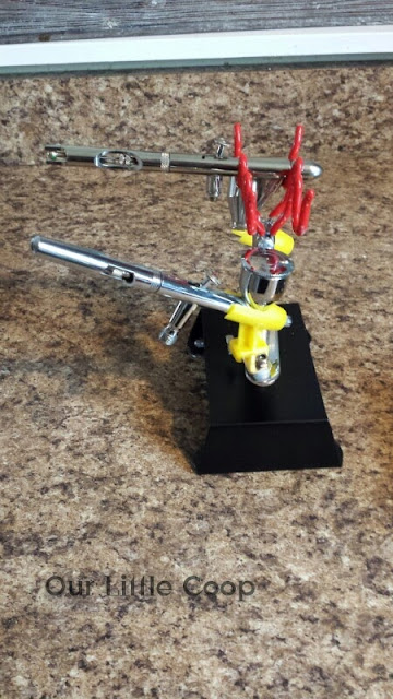 Aerograph Four Station Airbrush Tabletop Stand Holder for lures and crankbaits iwata eclipse cs and a badger 155ct