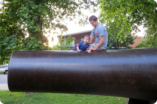 Elaine and Nolan on the Canon at John Paul Jones Park