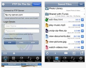 FTP on the Go app