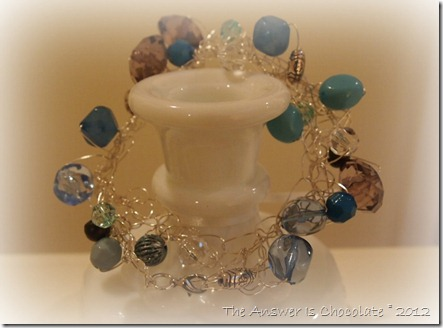 Crocheted Wire and Bead Bracelet