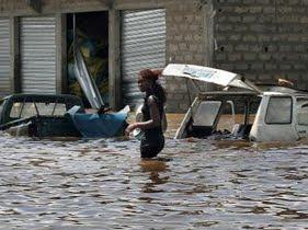 Inondation à Abidjan en Côte d'Ivoir, juin 2020. Photo ci.telediaspora.net