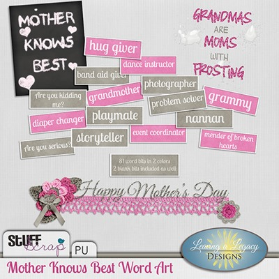 Mother Knows Best - Word art